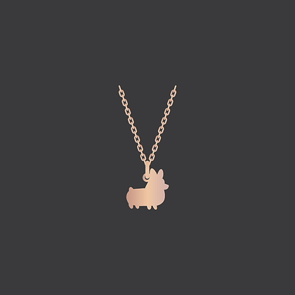 Corgi Necklace / Rose GoldFilled