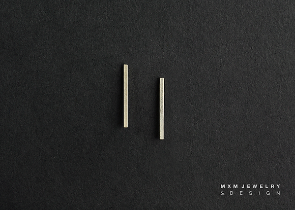 Simple Long Bar Stud Earrings
