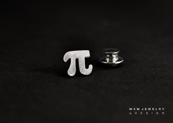 Pi for Math Lover Lapel Pin