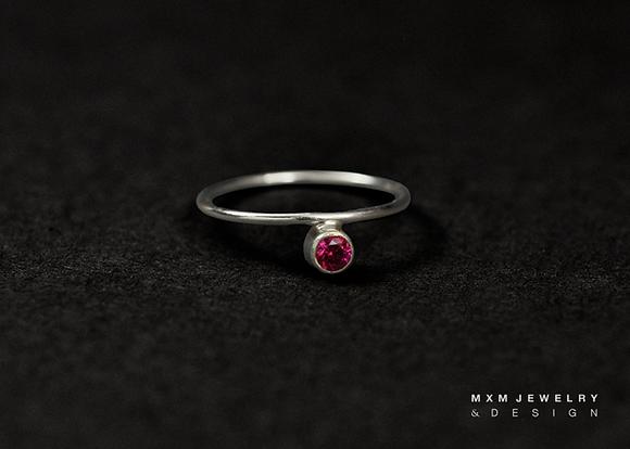 Modern Birthstone Ring
