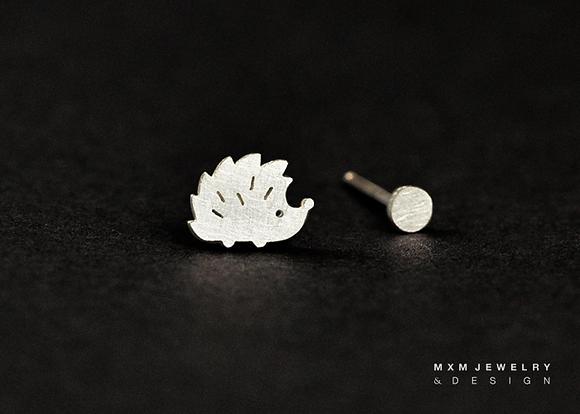 Hedgehog & Mini Ball Stud Earrings
