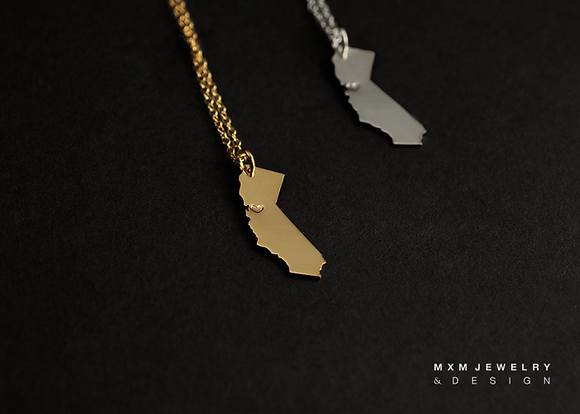 Hand-Saw LOVE California Necklace