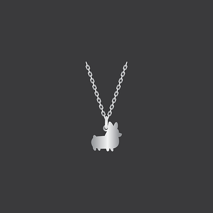 Corgi Necklace / Sterling Silver
