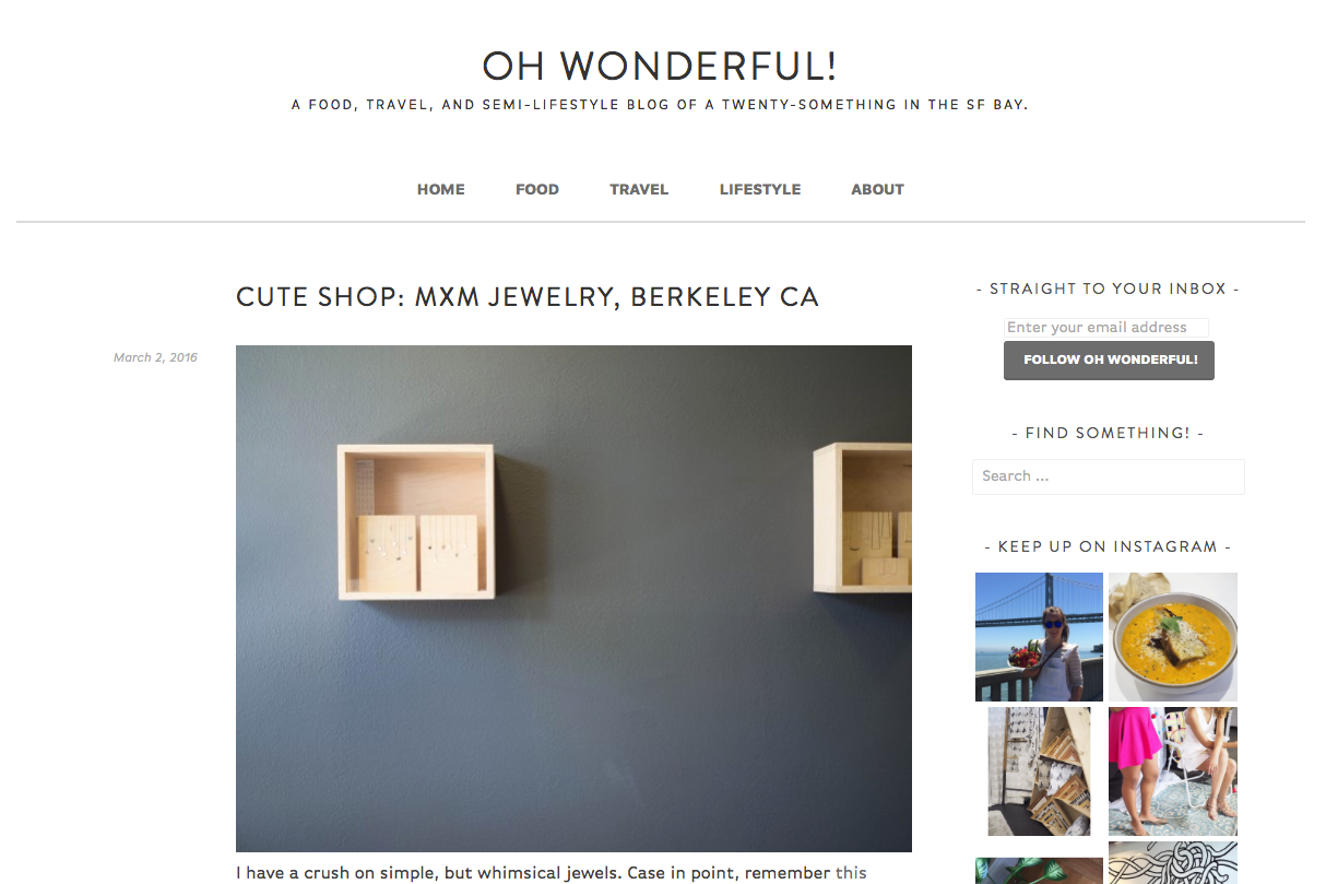 Oh Wonderful! / Blog