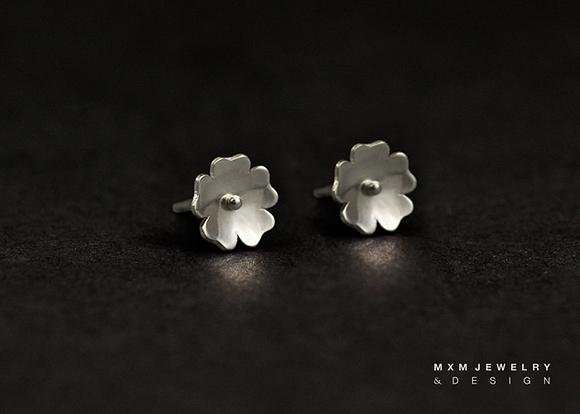 Primrose Flower Stud Earrings