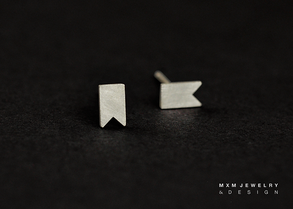 Bookmark Stud Earrings