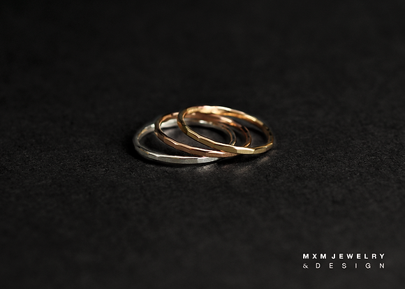 Mini / Handhammered Stackable Ring