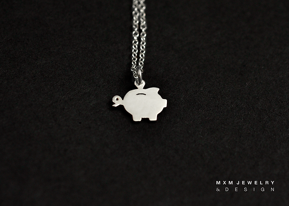Piggy Bank Necklace