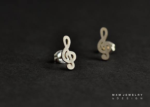 Music Note/G Clef Stud Earrings