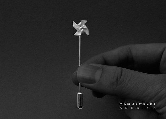 Handfolded Pinwheel Pin