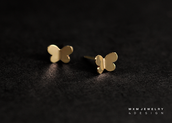 Gold / Simply Butterfly Stud Earrings