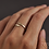 Thumbnail: Handhammered Open Ring
