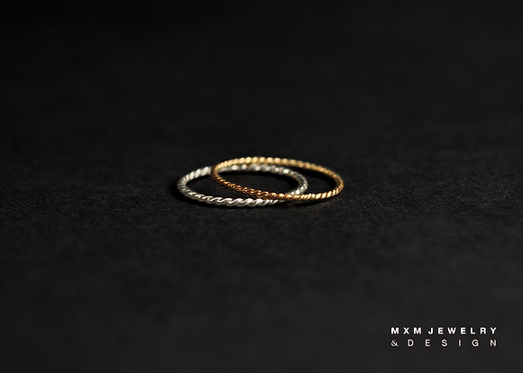 Twisted Stackable Ring