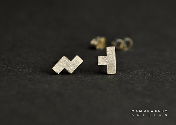 Tetris Stud Earrings