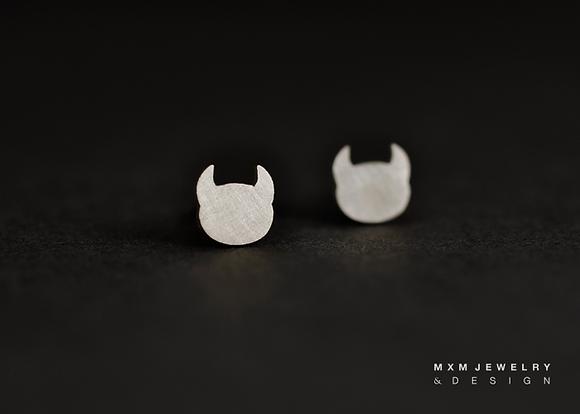 Devil Head Stud Earrings