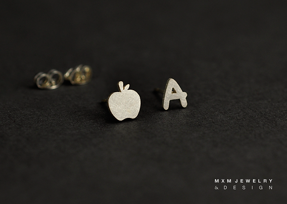 A for Apple / Teacher Stud Earrings