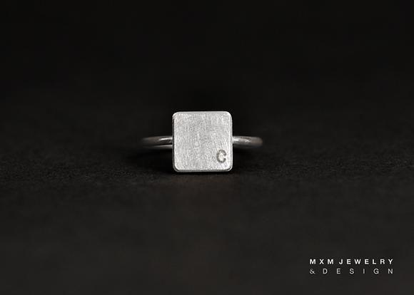Simple Square Block Ring