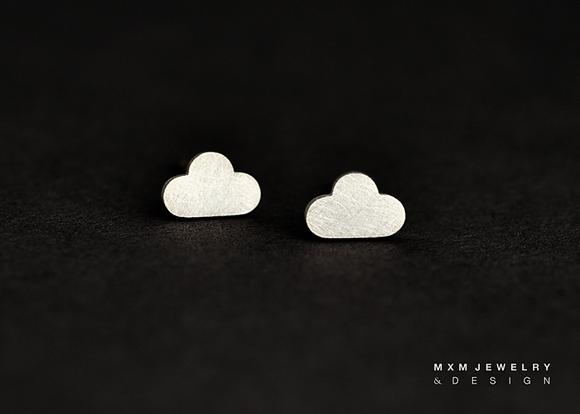 Little Cloud Stud Earrings