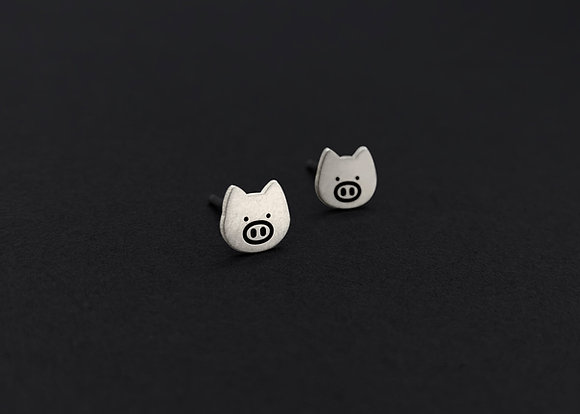 Pig Head Stud Earrings