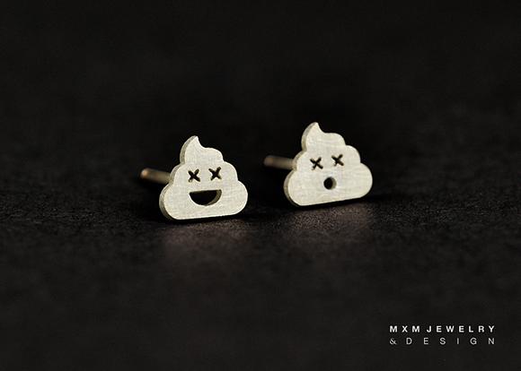 Poop Emoji Stud Earrings