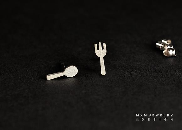 Fork & Spoon Stud Earrings