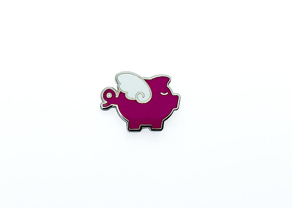 Flying Pig Enamel Pin
