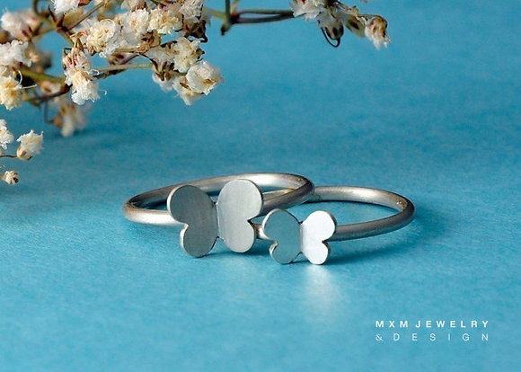 Double Butterfly Ring Set