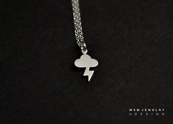 Cloud & Lighting Necklace