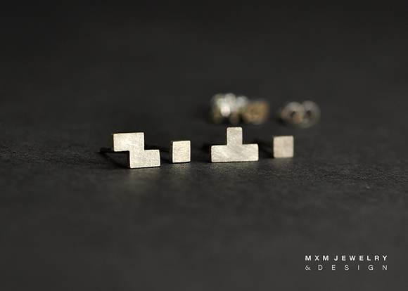 Tetris Stud Earrings Set