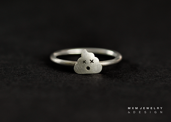Little Poop Emoji Ring