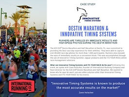 Jaguar Race Chip Timing System used at Destin Marathon timed by Innovative Timing Systems