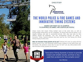 Jaguar Chip Timing System Case Study Police and Fire Games. From Innovative Timing Systems