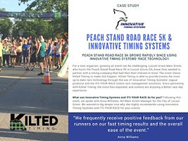 Jaguar Chip Timing System used at Peach Stand race. Case study by Innovative Timing Systems