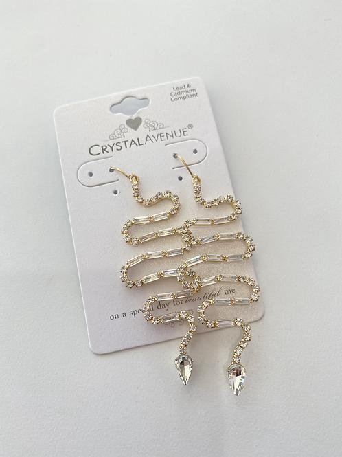 Crystal Snake Earrings