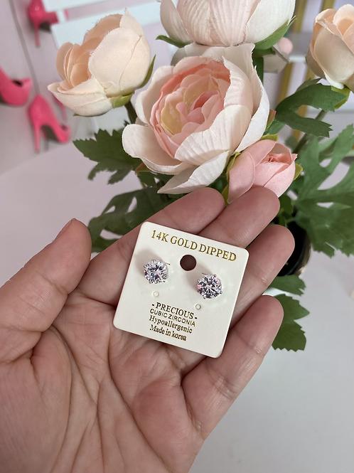 Diamond Earrings Silver