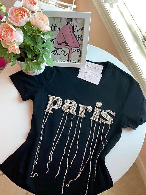 Paris Black Fashion Shirt