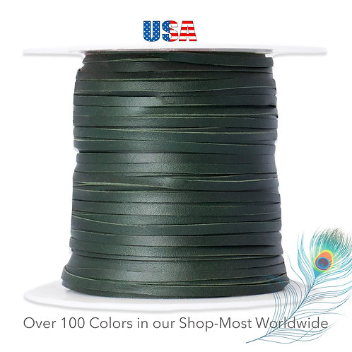 """3mm (1/8"""") Packer Kangaroo Lace-FOREST GREEN"""