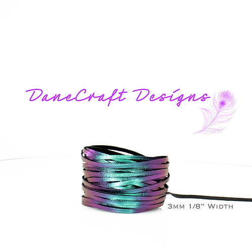 """3mm (1/8"""") Width PURPLE/TEAL COLOR SHIFTING"""