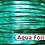 "Thumbnail: 3mm (1/8"") Packer Kangaroo Lace-AQUA FOIL METALLIC"