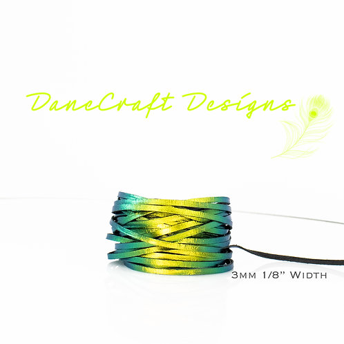 """3mm (1/8"""") Width GREEN COLOR SHIFTING"""