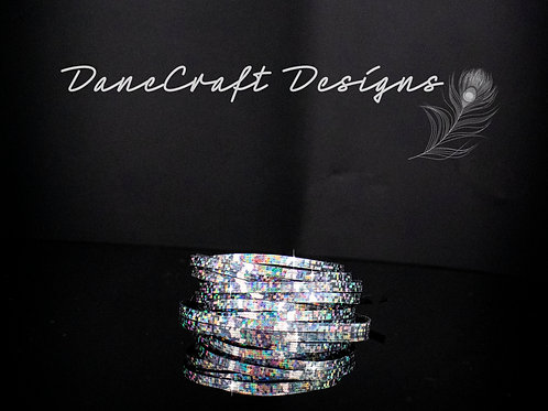 """3mm 1/8"""" Width SILVER HOLOGRAPHIC-CHUNKY GLITTER"""