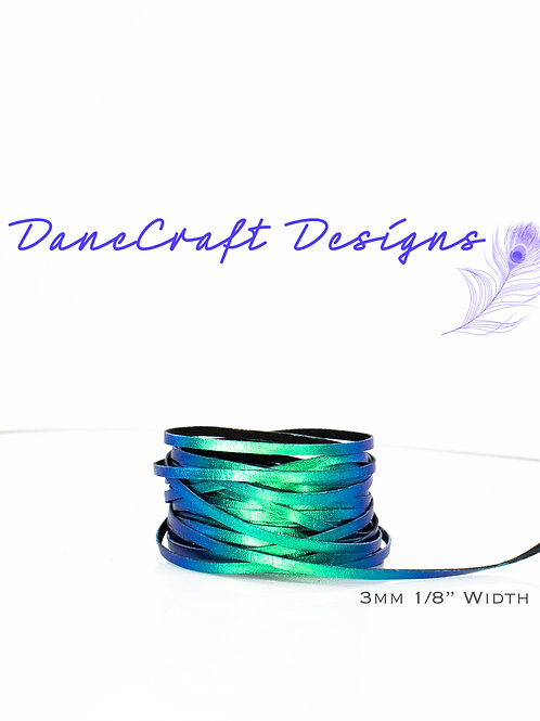 """3mm (1/8"""") Width BLUE/GREEN COLOR SHIFTING"""