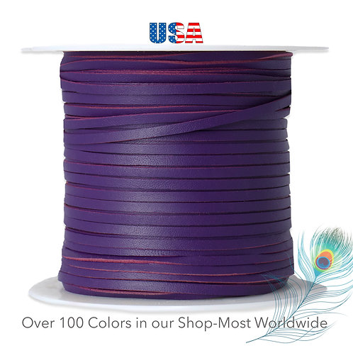 "3mm (1/8"") Packer Kangaroo Lace-PURPLE"