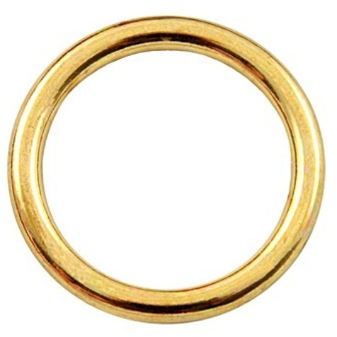 1/2 Inch Die Cast Brass Plated O-Ring