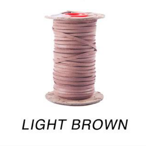 "3mm (1/8"") Birdsall Kangaroo Lace-LGH MATTE LIGHT BROWN"