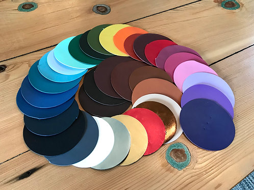 Packer Leather Color Sample Swatches