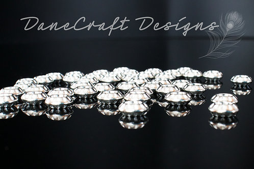 Tibetan Silver Rondell Spacers