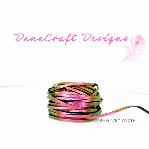 """3mm (1/8"""") Width PINK/GREEN/GOLD COLOR SHIFTING"""