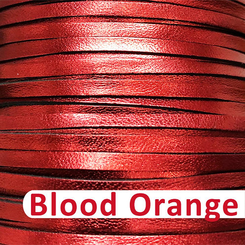 "3mm (1/8"") Packer Kangaroo Lace-BLOOD ORANGE METALLIC"