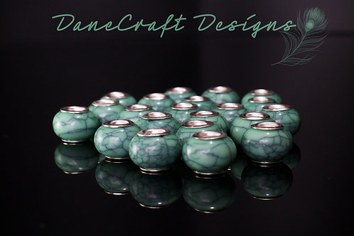 Turquoise Acrylic Large Spacers
